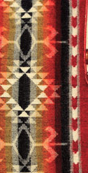 Aztec Printed Blanket Red