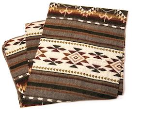 Aztec Printed Blanket Brown