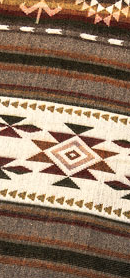 Aztec Printed Blanket Brown
