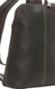 Leather U-Zip Women's Sling/Back Pack Cafe