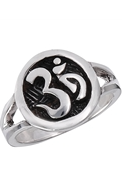Sterling Silver Circle OM Ring