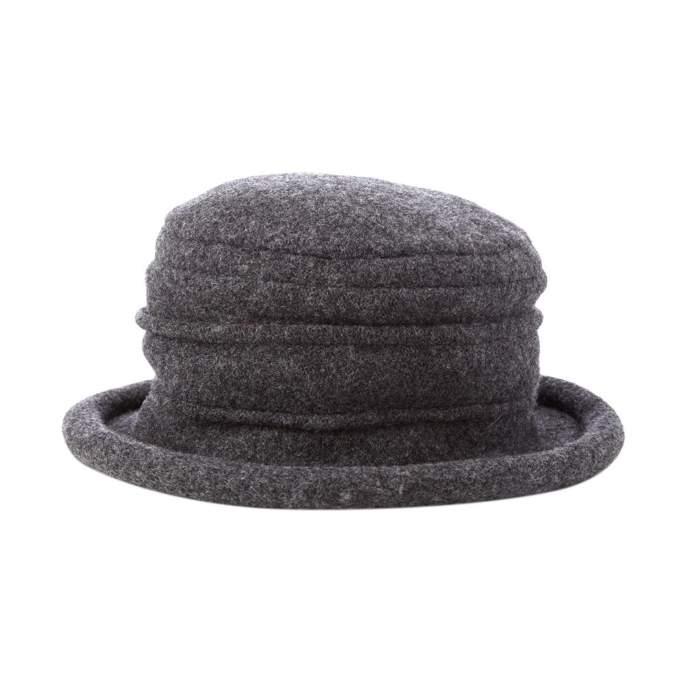 Collezione Women's Boiled 100% Wool Cloche Hat Charcoal