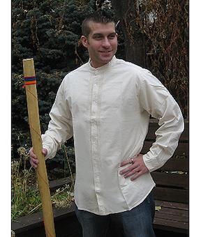 Open Front Wedding Shirt Natural