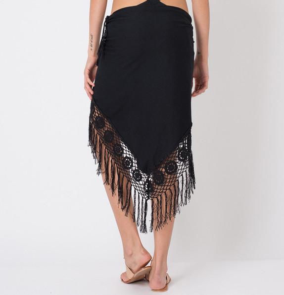 Cato Crochet Sarong Black