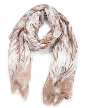 Faded Zig Zag Oblong Scarf Camel