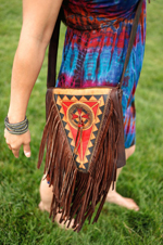 Leather Fringed Bag