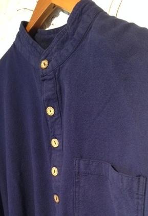 Mandarin Collar Shirt Midnight