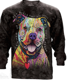 Dean Russo Beware of Pit Bulls Long Sleeve Tee