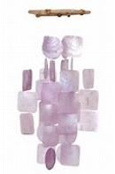Purple Capiz Shell wind Chime