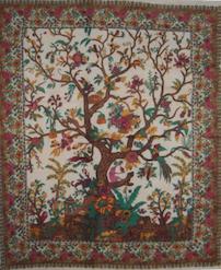 Tree of Life Tapestry/ Bedspread Herbal Beige