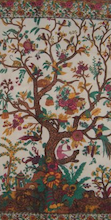 Tree of Life Tapestry/ Bedspread Herbal Beige