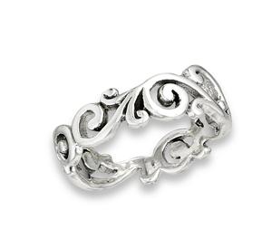 Sterling Silver Weave Swirl Ring
