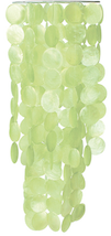 Green Capiz Shell Wind Chime Extra Long